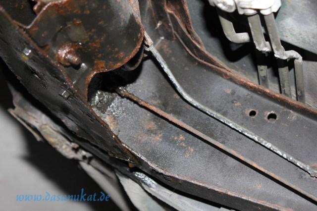 Rover Mini Xn - zu fettendes Bremsseil