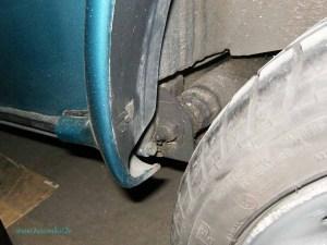 Rover Mini Xn - hinterer Schmiernippel Fahrerseite