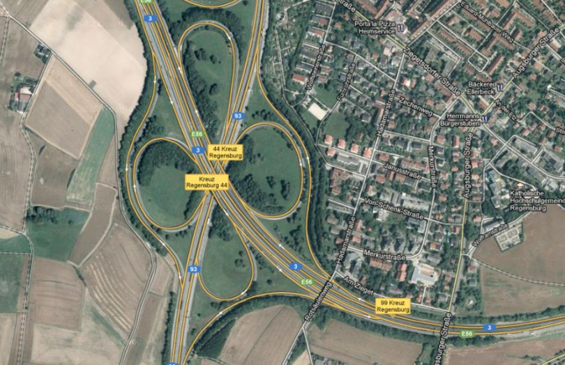 autobahnkreuz-regensburg A3 A93