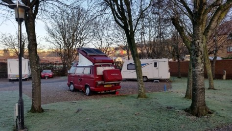 2nd Jan - Pitched up and ready to hit Bristol