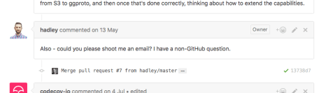 Hadley ask for e-mail