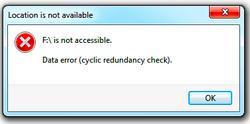 CRC (Cyclic Redundancy Check) Error