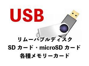USB リムーバブルディスク SDカード microSDカード 各種メモリーカード