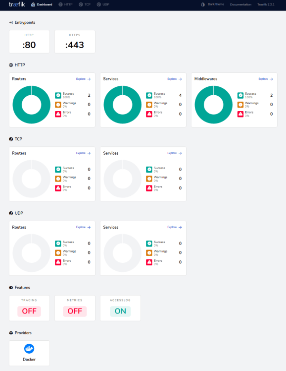 Traefik Dashboard 1