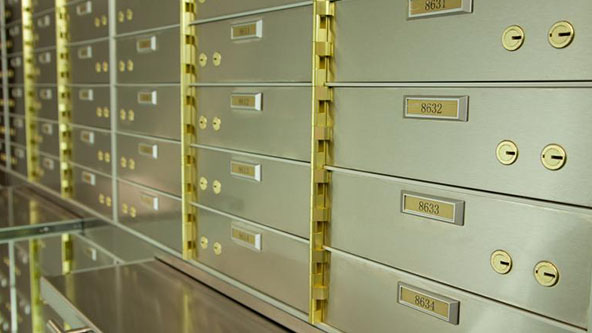 safe deposit box bank