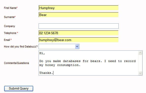 web form