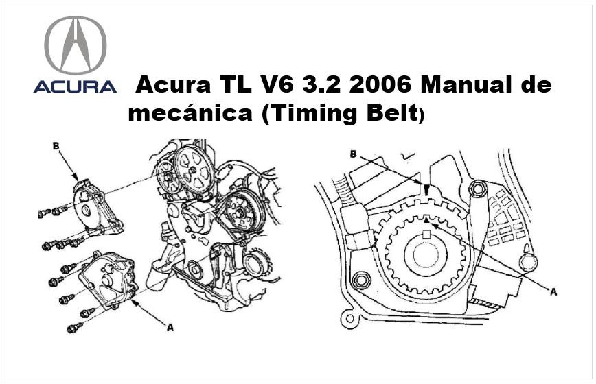 Acura TL V6 3.2 2006 Manual de mecánica de la distribución