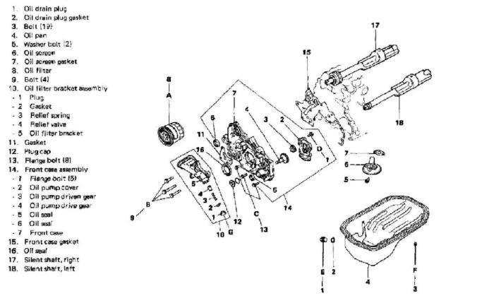 Mitsubishi Galant 1986 L4 2.4L SOHC como cambiar la bomba