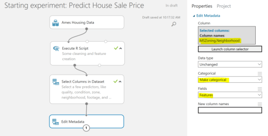 Predict House Sale Price - make categoricals