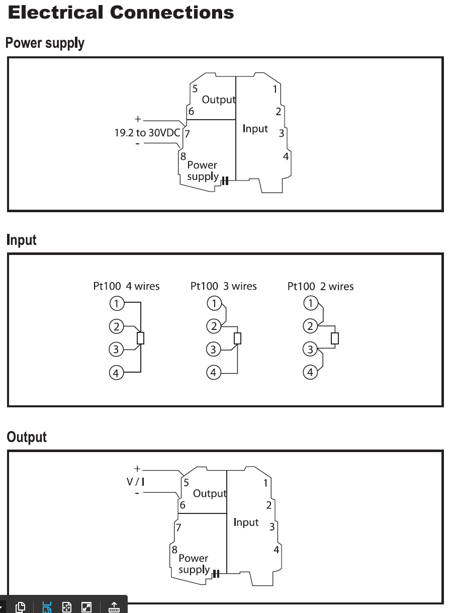 hight resolution of pt100 to dc current voltage converter