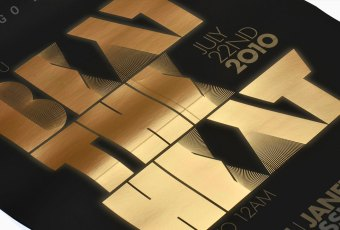 Hugo Boss Invitation - Foil Stamping