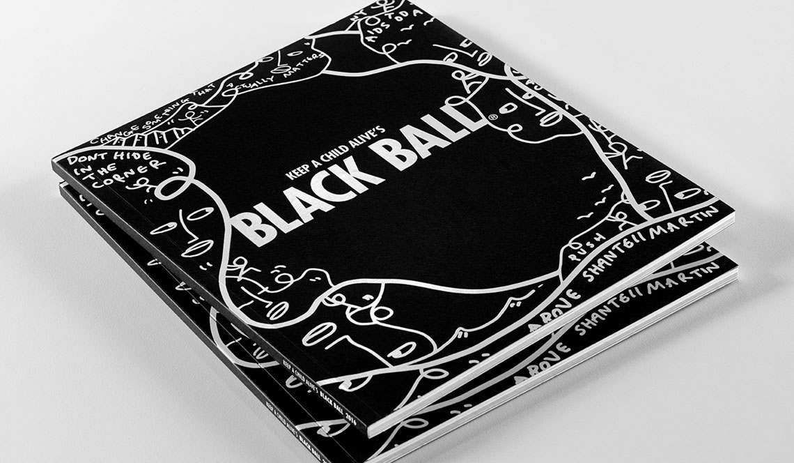 keep a child alive black ball event program book printing by datagraphic