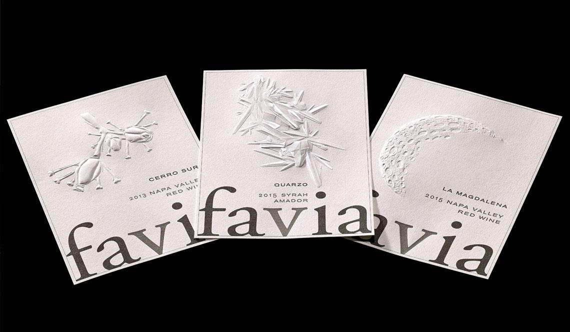 Favia Wine Labels