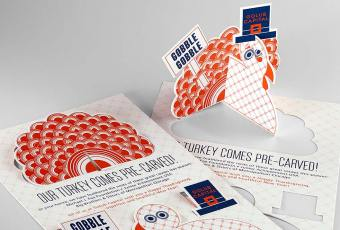 die cut holiday cards