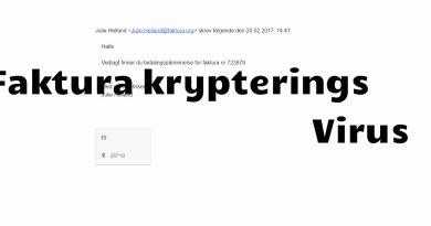 Faktura krypterings virus