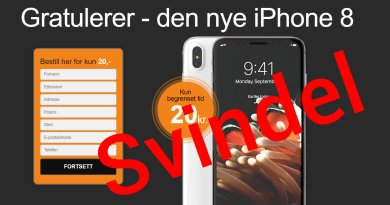 iPhone 8 mail svindel