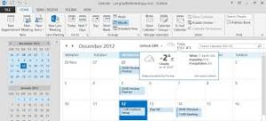 Working with the Weather Bar in Outlook 2013 – A Primer
