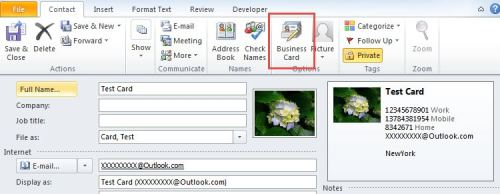 How to design your favorite business card in outlook data recovery preview default business card colourmoves
