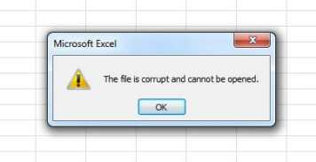 Excel Corruption