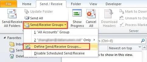 Define SendReceive Groups