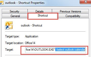 How to Create a Desktop Shortcut to a Specific Outlook