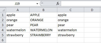 how to change capitalisation in excel
