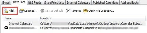 how to completely delete an outlook data file