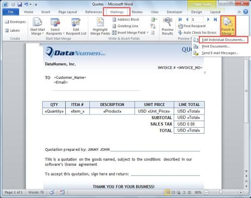 How To Make Personalized Letters In Mail Merge