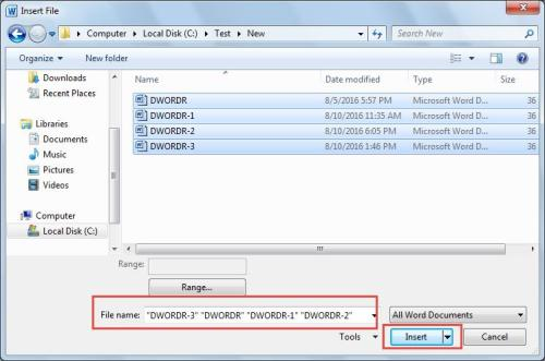 merge multiple word documents into one pdf