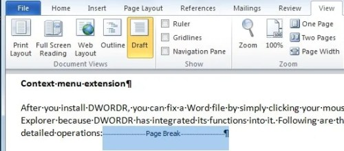 word 2016 how to delete pages under