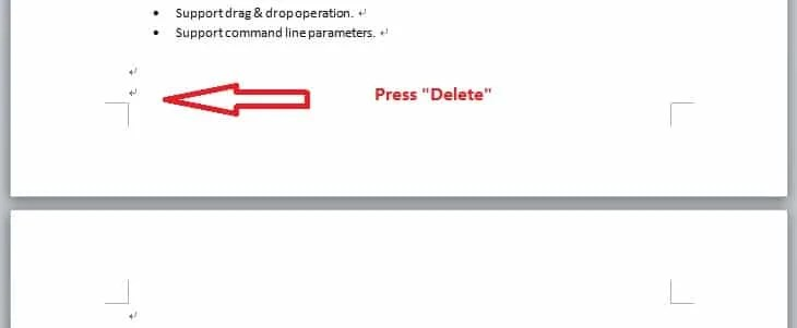 "Press ""Delete"" key"