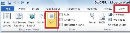 "Click ""Draft"""