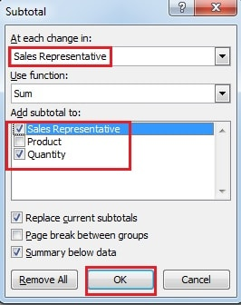 how to find subtotal in excel