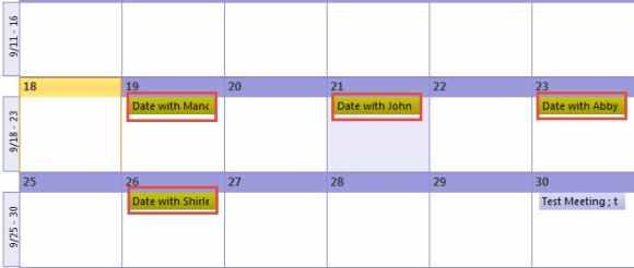 Color Categorize Calendar Appointments