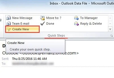 How To Create A Shortcut To An Email Template In Outlook