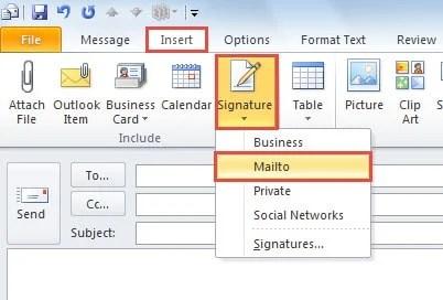 Select a signature