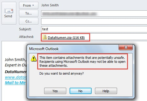 How to Block Customized File Types in Outlook Attachments