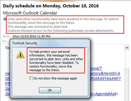 2 Tips to Disable Hyperlinks in Outlook Emails - Data