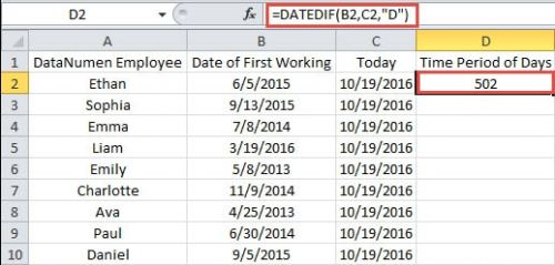 2 Methods to Get the Difference Between Two Dates in Excel - Data ...