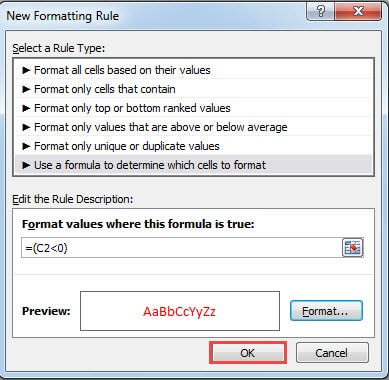 3 Useful Methods to Make Negative Numbers Red in Your Excel