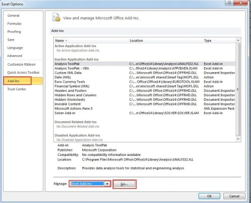 How to Add and Disable Add-Ins for Your Excel Files - Data