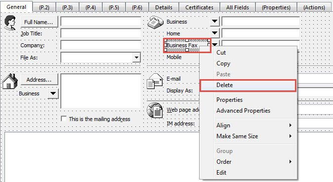 How to Customize the New Contact Form in Your Outlook