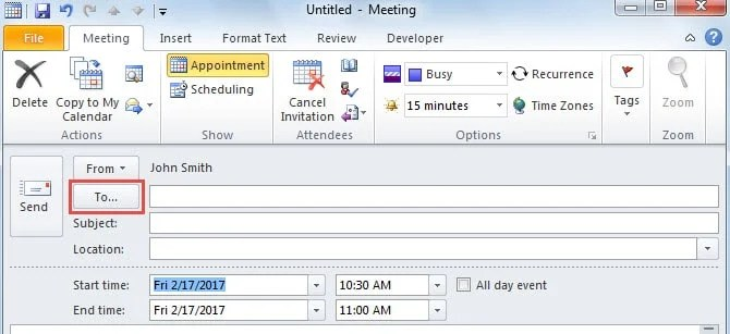 Only To Field No BCC or CC Field?resize=500%2C229&ssl=1 3 easy tips to cc or bcc an outlook meeting invitation data,Calendar Invite Outlook