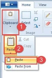 "Click ""Clipboard"" ->Click ""Paste"" ->Click ""Paste"" again"