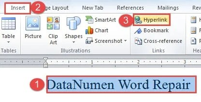 how to add a hyperlink to a word document