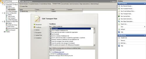 In-Depth Understanding of Transport Rules in Exchange Server