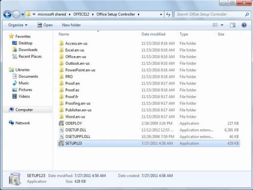 microsoft office ultimate 2007 configuration process