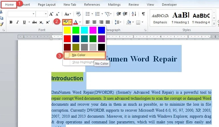 5 Methods to Remove Highlighting or Shading in Your Word