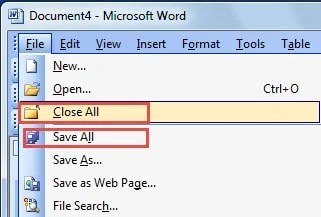 2 Ways to Quickly Save or Close All Open Word Documents
