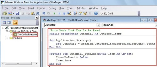 Copy and Paste the VBA Codes